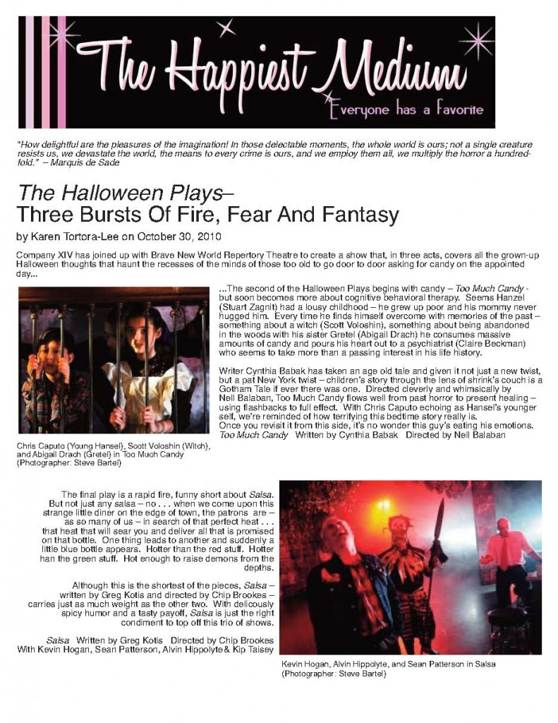 The Happiest Medium - The Halloween Plays