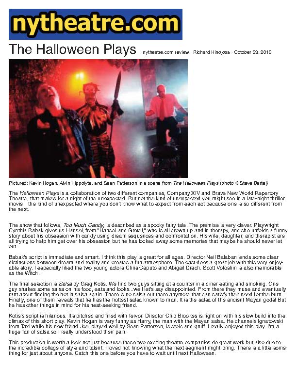 NYTheatre.com - The Halloween Plays