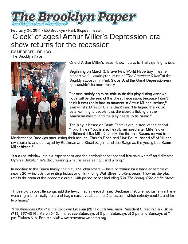 The Brooklyn Paper - The American Clock